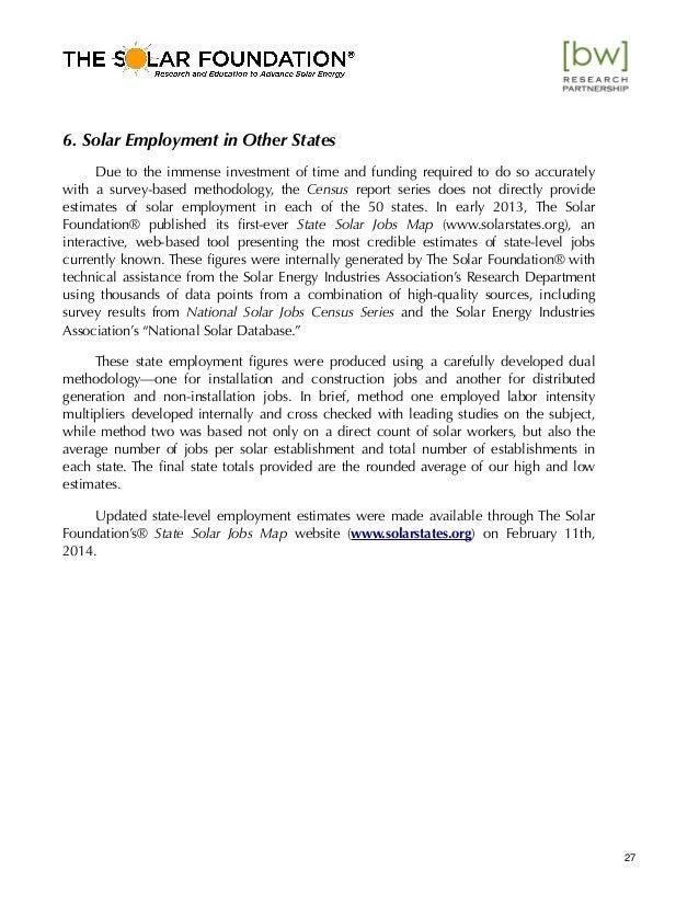 Arizona Solar Jobs Census 2013