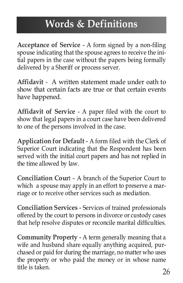 Arizona Supreme Court Divorce Booklet