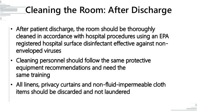 Hospital Patient Room Cleaning Procedures | Thecarpets.Co