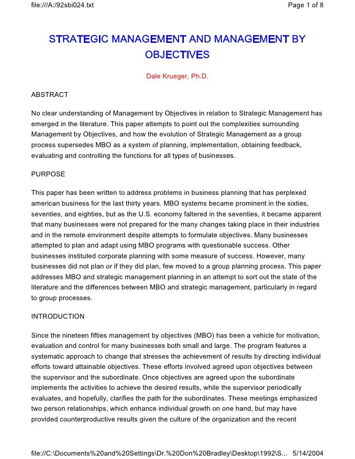 file:///A:/92sbi024.txt                                                               Page 1 of 8      STRATEGIC MANAGEMEN...