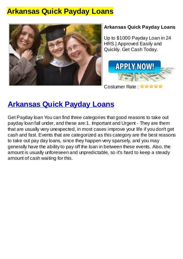 Arkansas Quick Payday LoansArkansas Quick Payday LoansUp to $1000 Payday Loan in 24HRS.| Approved Easily andQuickly. Get C...