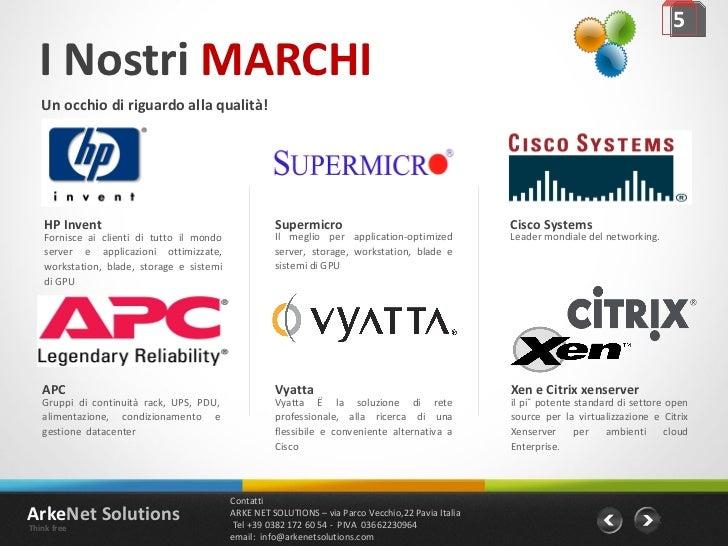 I Nostri  MARCHI Un occhio di riguardo alla qualità! 5 Leader mondiale del networking. Cisco Systems il più potente standa...