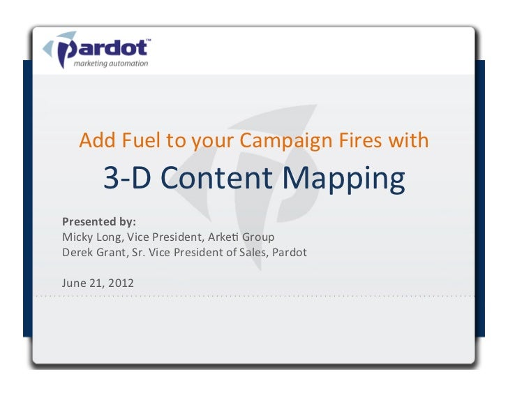 Add	  Fuel	  to	  your	  Campaign	  Fires	  with	             3-­‐D	  Content	  Mapping	  Presented	  by:	  	             ...