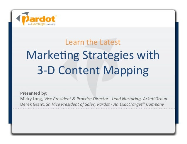 Learn	  the	  Latest	      Marke4ng	  Strategies	  with	       3-­‐D	  Content	  Mapping	                                 ...