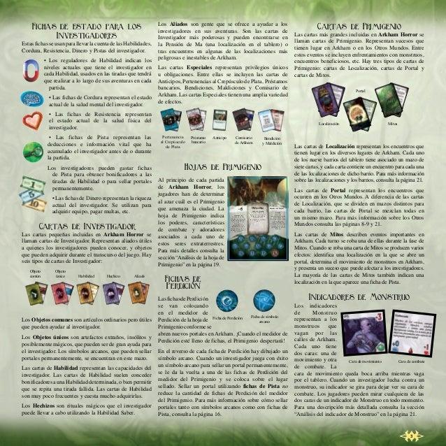 Arkham Horror - La llamada de Cthulhu (Reglas) - Juego de mesa Slide 3