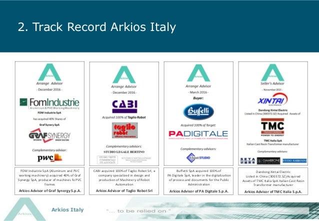 Arkios Italy SpA - Company Presentation - Oct 2017