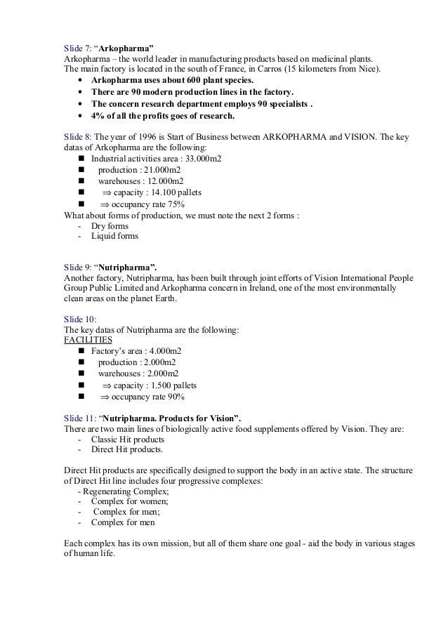 Arkopharma  Text For Presentation Slide 2