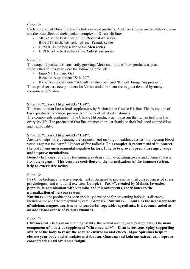 Arkopharma  Text For Presentation Slide 3