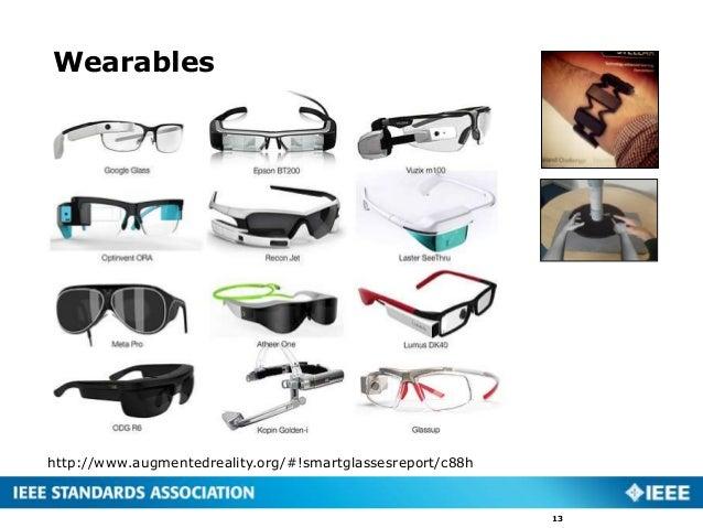 Wearables 13 http://www.augmentedreality.org/#!smartglassesreport/c88h