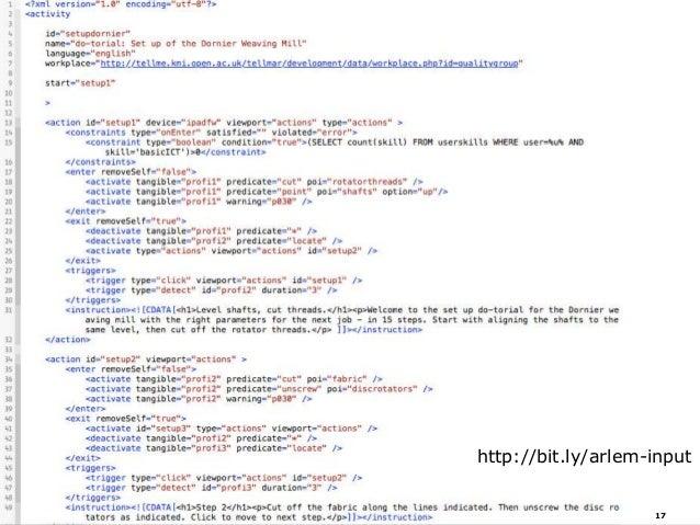 Serialized Activity Model 17 http://bit.ly/arlem-input