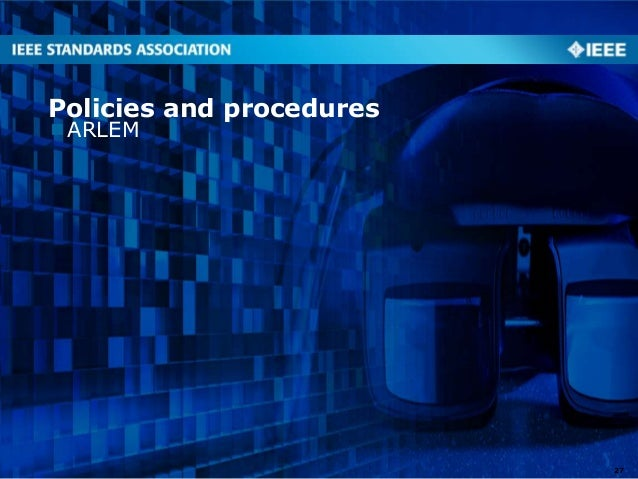 ARLEM Policies and procedures 27