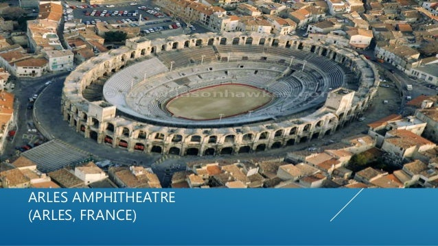 ARLES AMPHITHEATRE (ARLES, FRANCE)  Two-tiered Roman amphitheatre located in the southern French town of Arles  Built in...