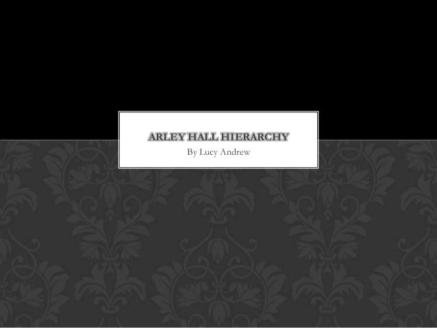 ARLEY HALL HIERARCHY By Lucy Andrew