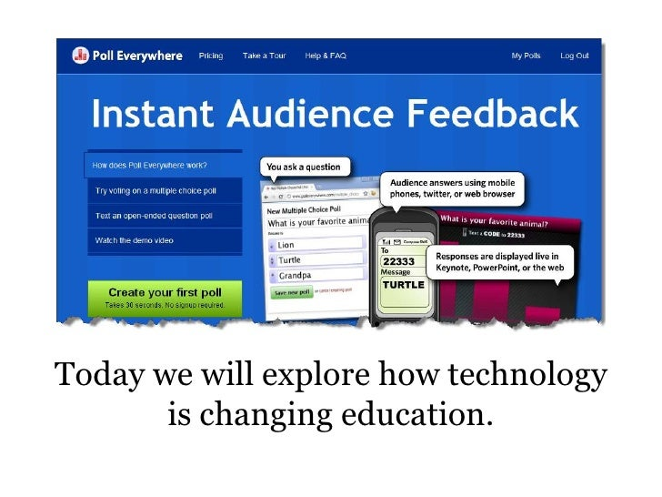 How is technology changing education Slide 3