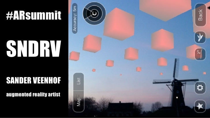 #ARsummitSNDRVSANDER VEENHOFaugmented reality artist