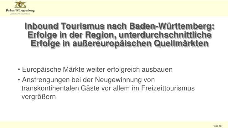 15<br />Internationale Quellmärkte Baden-Württembergs<br />Übernachtungen intern. Gäste in Baden-Württemberg (nach Quellmä...