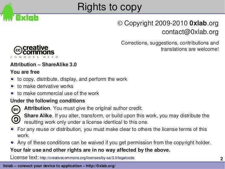 Rightstocopy                                                                 ©Copyright200920100xlab.org            ...