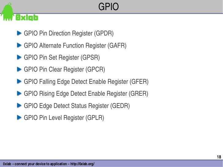 GPIO              GPIOPinDirectionRegister(GPDR)              GPIOAlternateFunctionRegister(GAFR)              GPI...