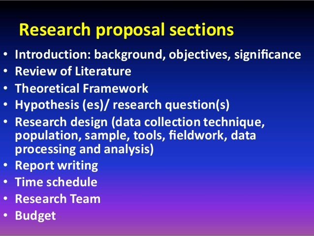 sections of a research proposal