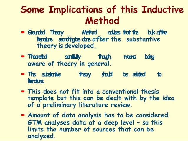 use of grounded theory Lately, grounded theory method is gaining importance as a method for theory  building however, its application is not free of criticism due to lack of rigour and.