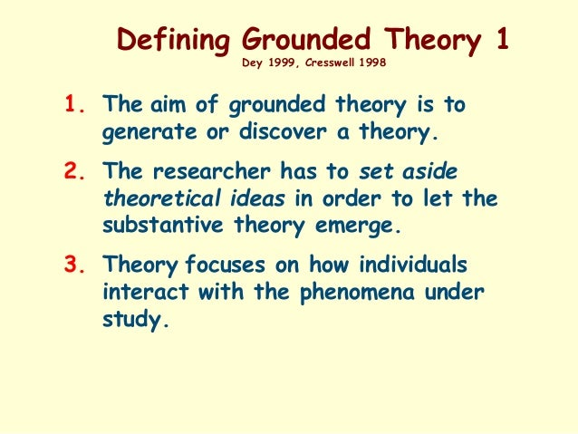 what is grounded theory Grounded theory methodology is one of the most widely used approaches to  collect and analyze data within qualitative research it can be characterized as a .