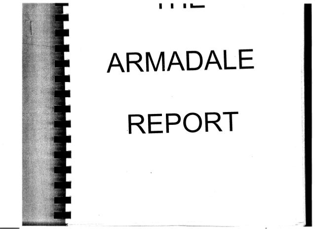 I I I -·~ ARMADALE.REPORT