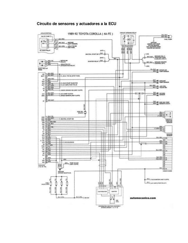 armado del sistema electr u00f3nico motor toyota 4 a