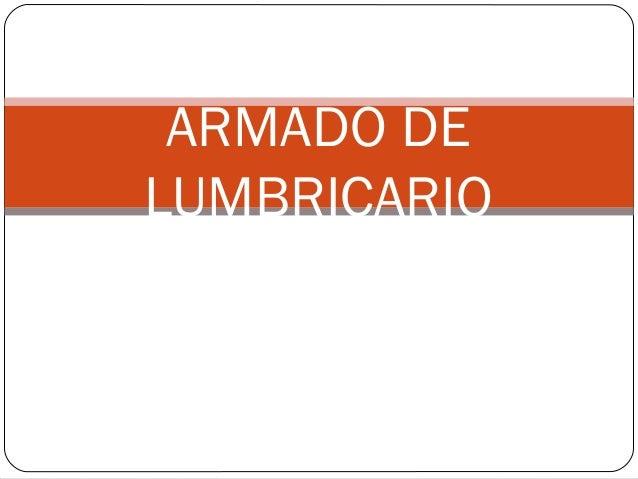 ARMADO DE LUMBRICARIO