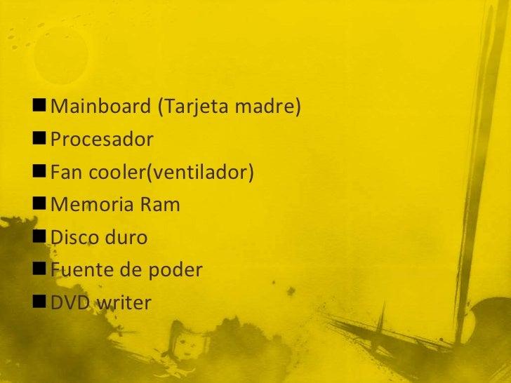 Armado de un PC Slide 2