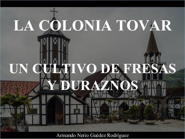 LA COLONIA TOVAR UN CULTIVO DE FRESAS Y DURAZNOS Armando Nerio Gu�dez Rodr�guez