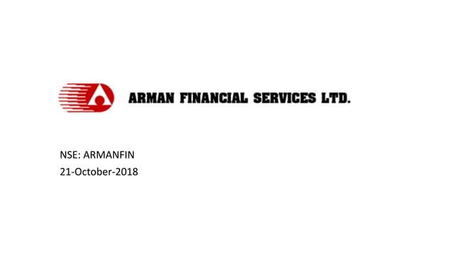 NSE: ARMANFIN 21-October-2018