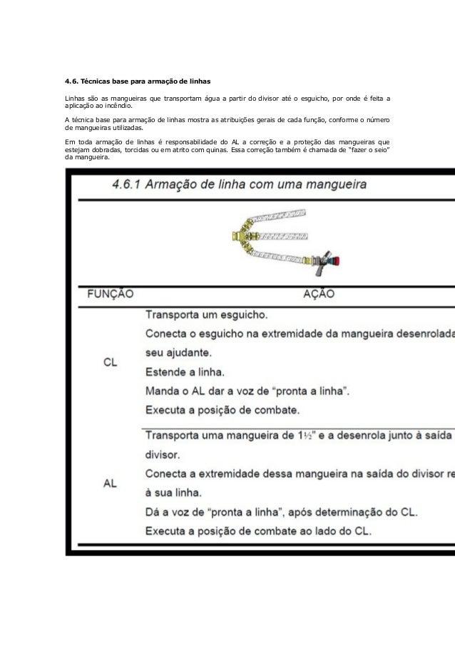 Figura 114 – Auxiliar de guarnição na armação de ligação Armação das linhas CL – Estende a mangueira recebida do AL (Figur...