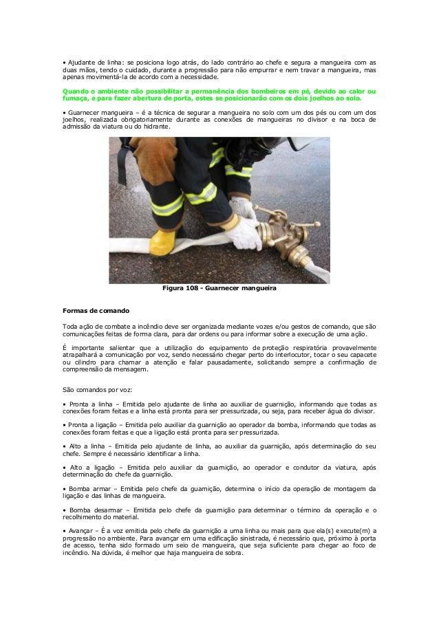 Armação de mangueiras para o combate a incêndio Slide 3