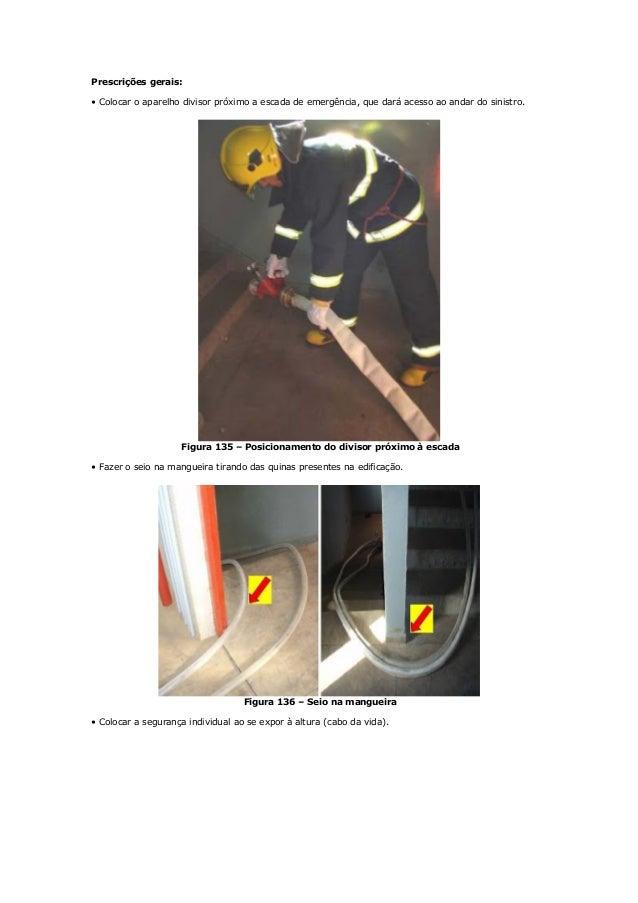 Armação de mangueiras para o combate a incêndio