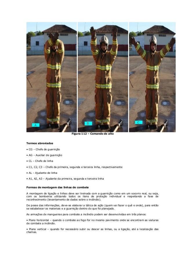 Figura 112 – Comando de alto Termos abreviados • CG – Chefe de guarnição • AG – Auxiliar de guarnição • CL – Chefe de linh...
