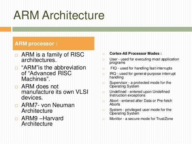 ARM Architecture ...