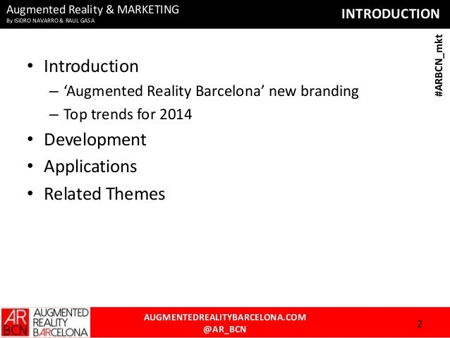 Augmented Reality - AR & Marketing Slide 2