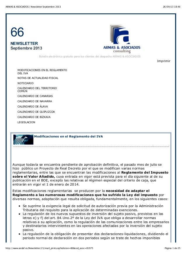 26/09/13 18:46ARMAS & ASOCIADOS   Newsletter Septiembre 2013 Página 1 de 25http://www.aedaf.es/Newsletter/21/mail_print.as...