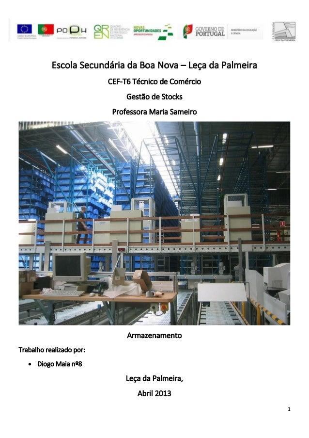 Escola Secundária da Boa Nova – Leça da Palmeira                          CEF-T6 Técnico de Comércio                      ...