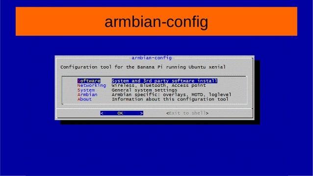 Armbian Config