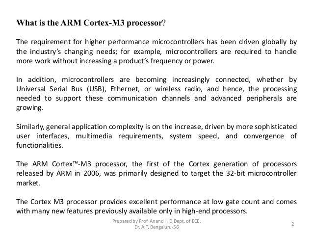 ARM 32-bit Microcontroller Cortex-M3 introduction Slide 2
