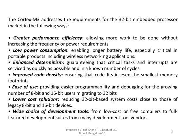 ARM 32-bit Microcontroller Cortex-M3 introduction Slide 3