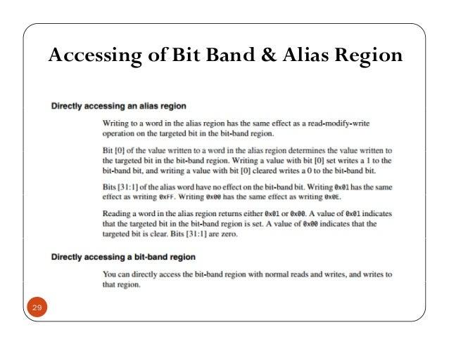Accessing of Bit Band & Alias Regiong g 29