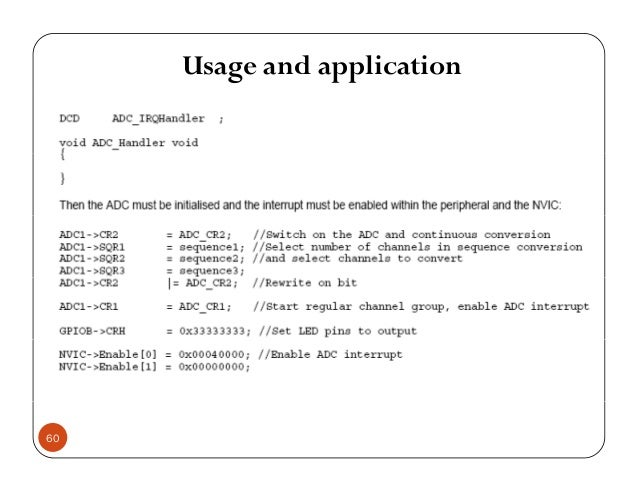 Usage and application 60