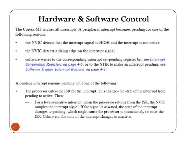 Hardware & Software Control 63