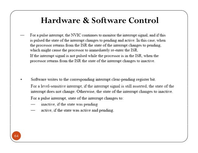 Hardware & Software Control 64