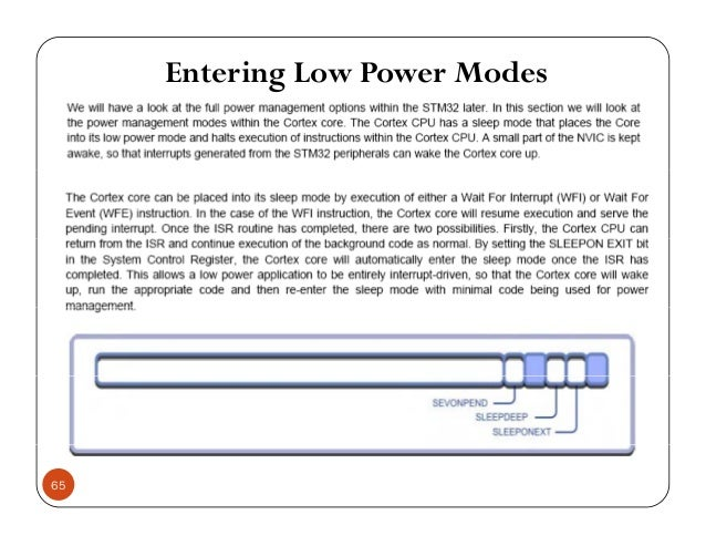 Entering Low Power Modes 65