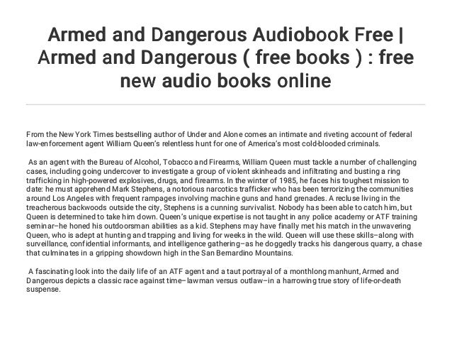 Armed and Dangerous Audiobook Free | Armed and Dangerous