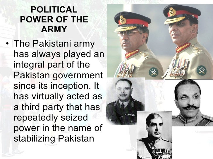 role of military in pakistan politics pdf