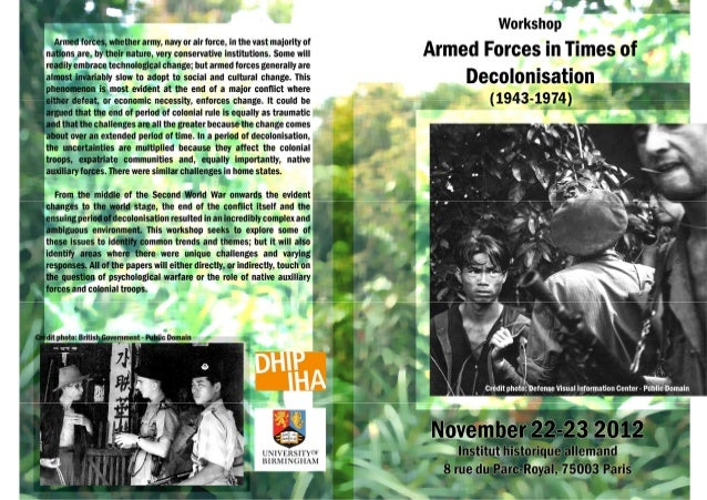 Armed forces in times of decolonisation